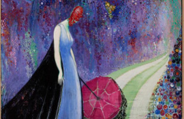 Betto Lotti, Dame au parapluie, 1925