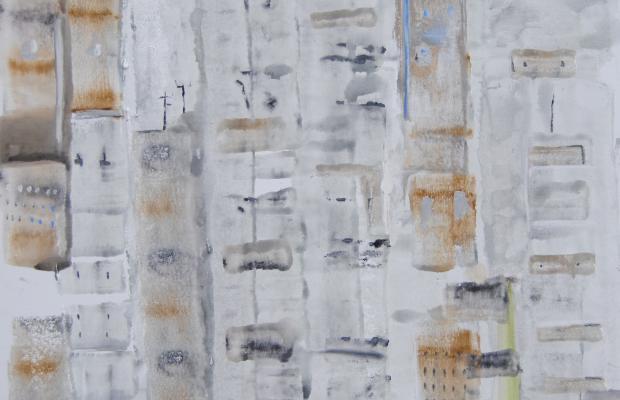 Guglielmo Spotorno_Pechino_ 2014_serie Città Umanizzate_ tecnica mista su tela_cm 100x100