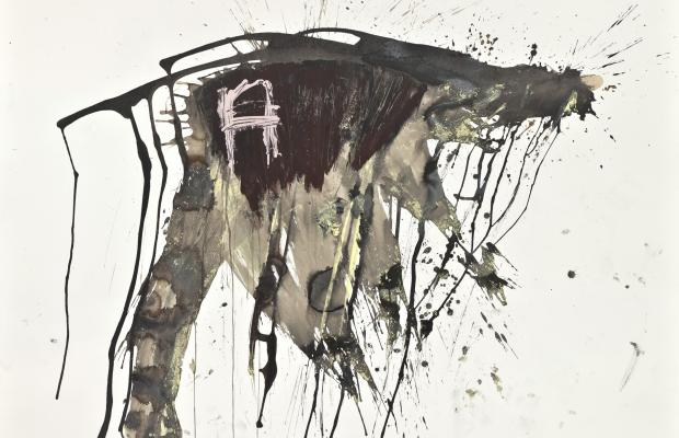 Simona Caramelli, Untitled, 2014, acrilico su carta, cm 140x190