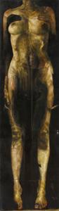 Nicola Samorì, Fill, 2006, olio su rame, cm 180x50