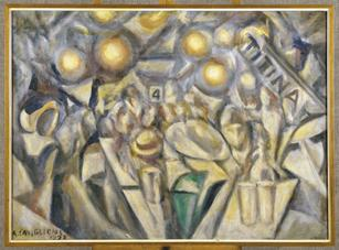Angelo Caviglioni, Caffé - Concerto, 1923, olio su tela, cm 72,2x100,2