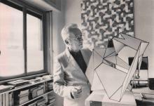Bruno Munari, 1980, © Maria Mulas - Irma Bianchi Comunicazione