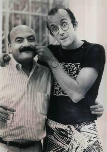 Salvatore Ala e Keith Haring, 1986, © Maria Mulas - Irma Bianchi Comunicazione