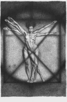 L'uomo vitruviano, collezione Le affinità elettive, 2011-2013, Adele Ceraudo - Irma Bianchi Comunicazione