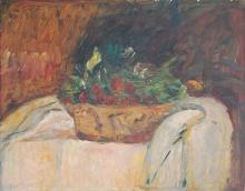 Cesto di ciliegie - natura morta, 1938, Arturo Tosi - Irma Bianchi Comunicazione