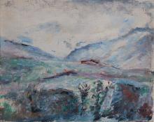 Paesaggio blu con cascina, 1939, Arturo Tosi - Irma Bianchi Comunicazione