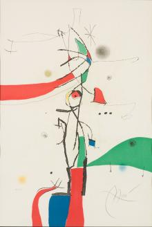 Demi-Mondaine à sa fenêtre, 1975, Joan Miró - Irma Bianchi Comunicazione