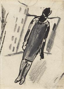 Paesaggio urbano con figura femminile, 1927-28, Mario Sironi - Irma Bianchi Comunicazione