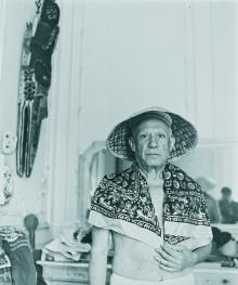 Portrait of Picasso with straw hat and scarf, 1957 , Irma Bianchi Comunicazione