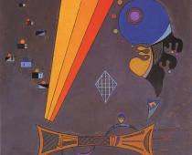 Au Milieu (Nel mezzo), 1942 olio su cartone su tela, cm 49x49 Collezione privata