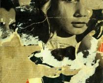 Mimmo Rotella, L'adolescente, 1962, décollage su tela, cm 28x23,5, collezione privata, foto di Paolo Vandrasch