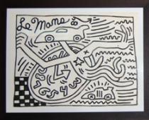 Keith Haring , Le Mans, 1984, inchiostro sumi su carta, cm92x122