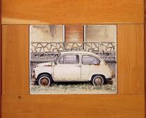 Giuseppe Bartolini, Seicento, 1998, olio su tavola, cm 43,5x49,5