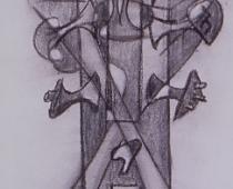 Agustin Cárdenas, disegno su carta, cm 76x56