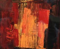 Chighine, Rocce di Positano, 1959 olio su tela, cm. 65x81