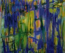 Antonio Corpora, Finestra, 1986, olio su tela, cm 162x130