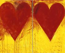 Jim Dine , Blue Sun, 2008, acrilico su tela, cm150x202