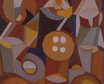 Domenico Gentile, Tatuaggio Sacro, 1992, olio su tela, cm 30x40