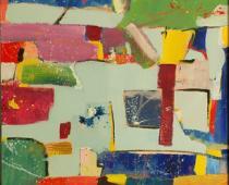 Paolo Manazza, City crossing up stare, 2007, olio su tela