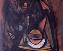 Wilfredo Lam, La cena, 1944, olio su tela