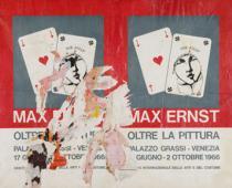 Raymond Hains, Oltre la pittura, 1966, décollage applicato su tela, cm99x127,5
