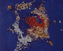 Lucio Fontana, Concetto spaziale, 1955, vetro su tela, cm 81x65