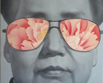 Xu De Qi, China flower 6, 2010, olio su tela, cm 100x130