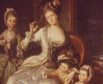 Anonimo, Fam. banchiere Gaetano Perego, XVIII sec., olio su tela, cm 200x180