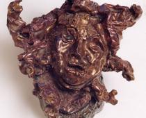 Lucio Fontana, Testa di medusa, 1948, ceramica policroma